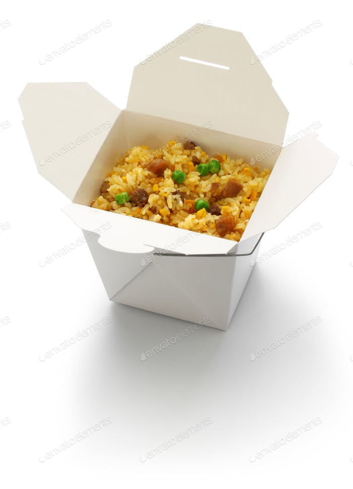 fried rice, take out chinese cuisine
