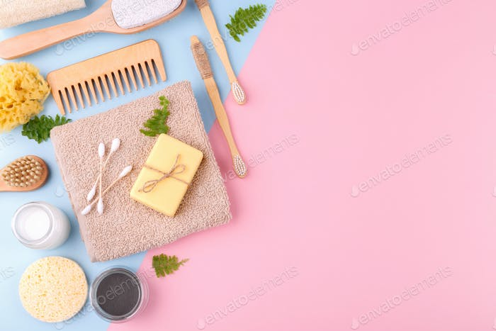 Zero waste natural bathroom items