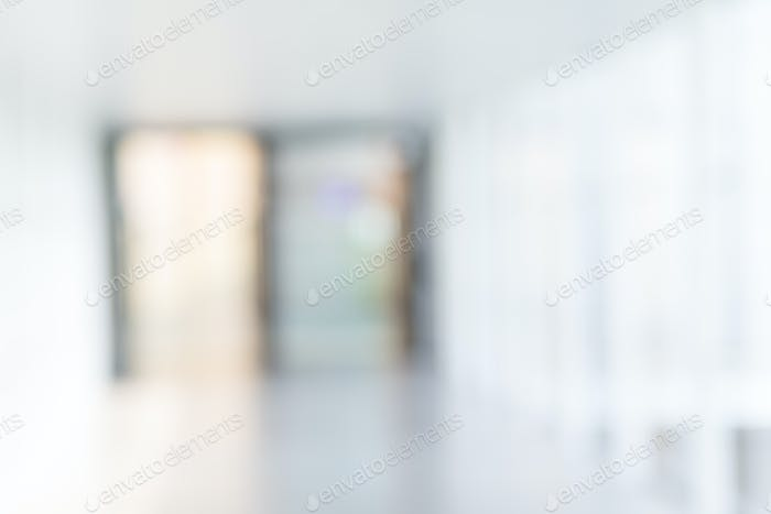 White blur abstract background from building hallway