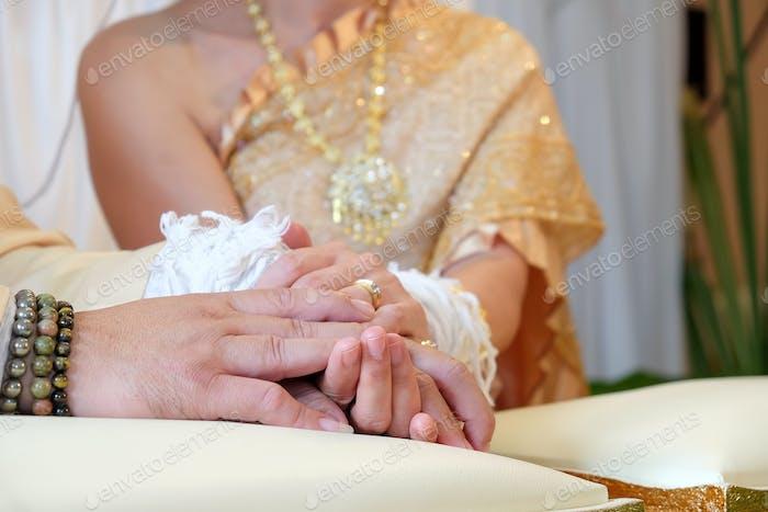 Hochzeitszeremonie Thailand.