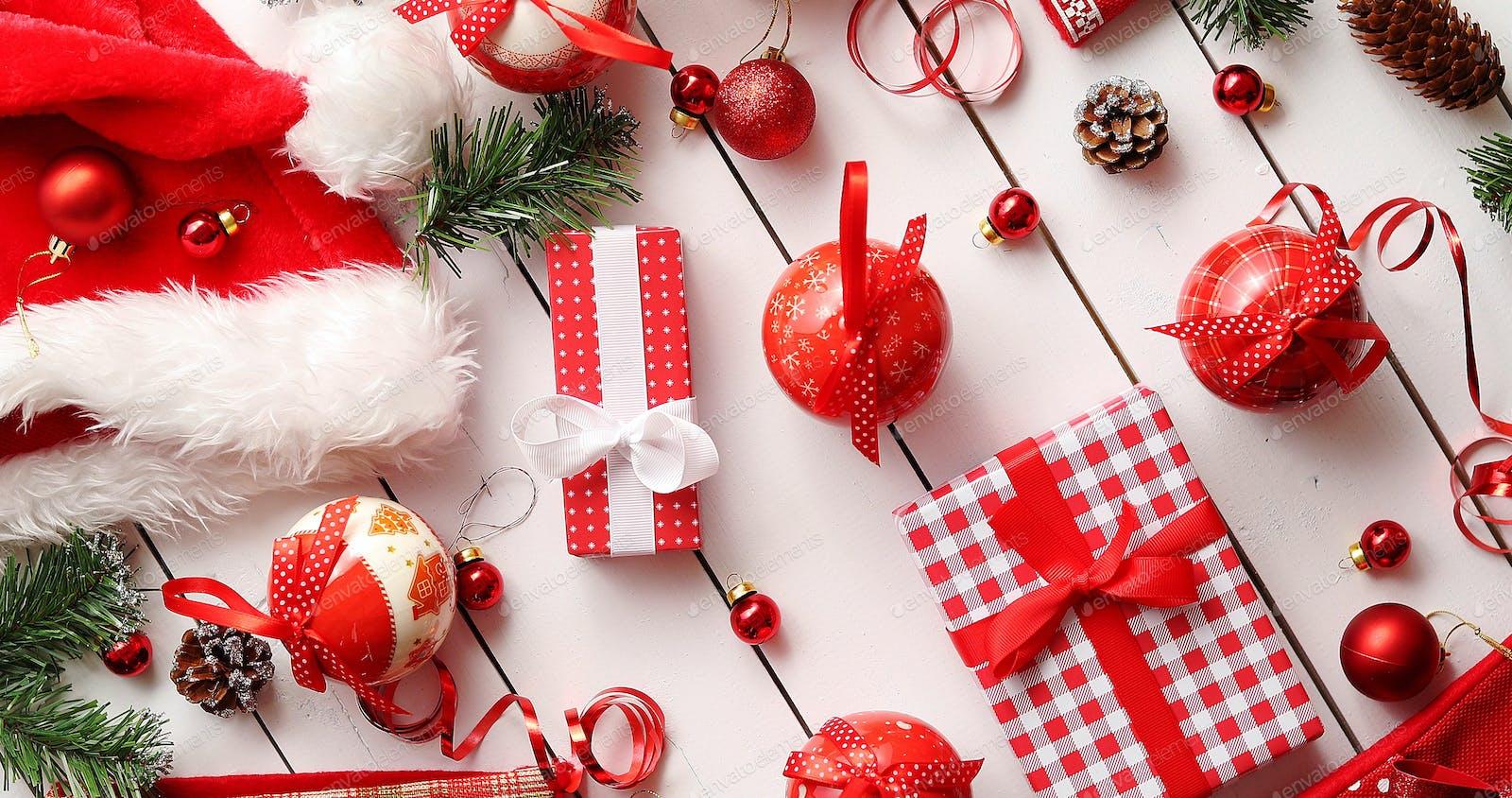 Christmas decorations near presents Foto von Daniel_Dash auf Envato ...