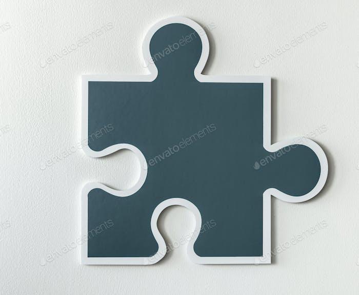 Jigsaw puzzle piece strategy icon