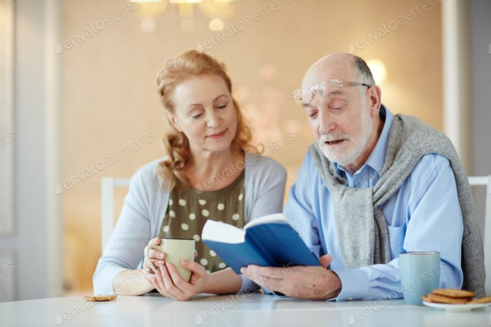 Reading to wife