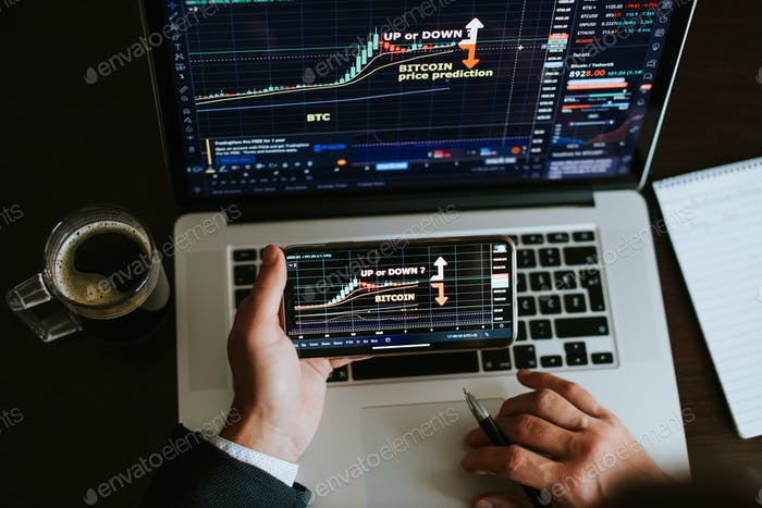investment stockbroker stock trading bitcoin crypto currency