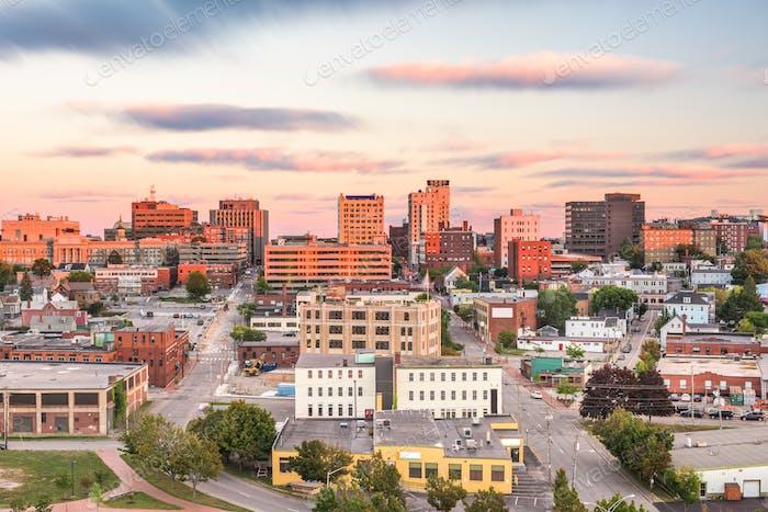 Portland, Maine, USA Innenstadt Skyline