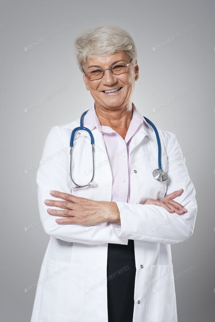 Portrait of candid female doctor