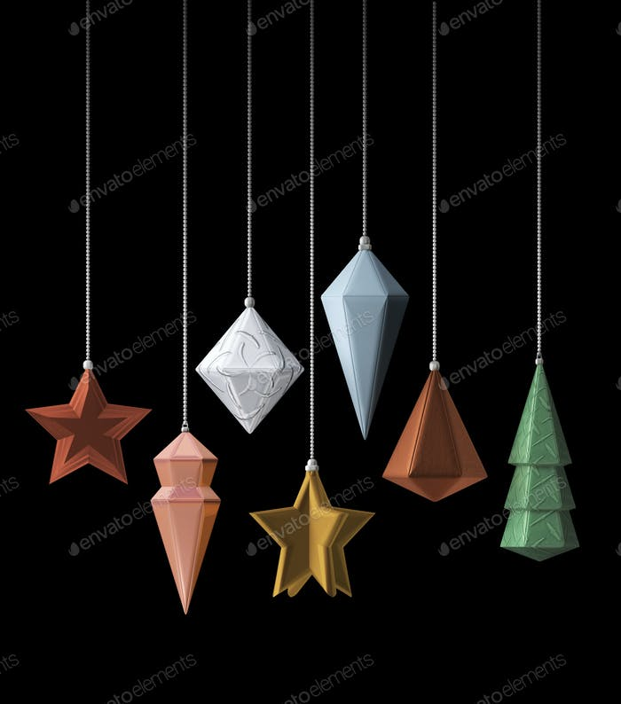 Modern design Christmas decoration metallic 3D