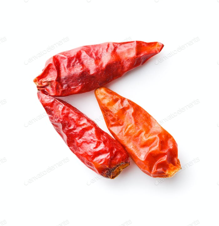 Dried mini chili peppers.