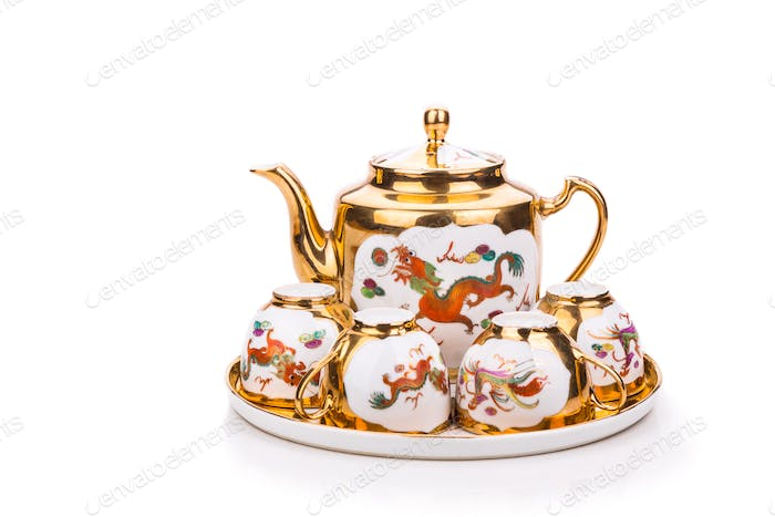Generic traditional Chinese tea set used in wedding tea ceremony