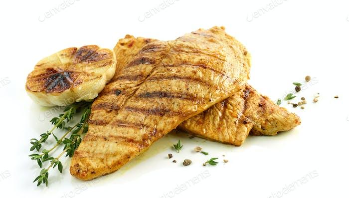 grilled chicken fillet meat