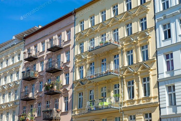 Nice restored houses in Berlin