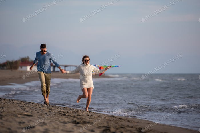 Couple enjoying time together at beach