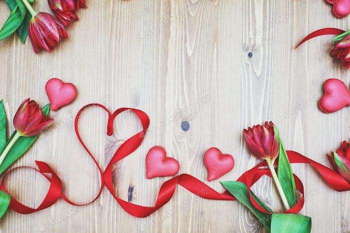 Creative decoration for Valentine's Day.