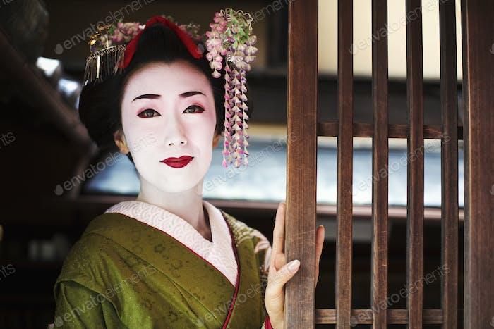 Geisha with traditional make up