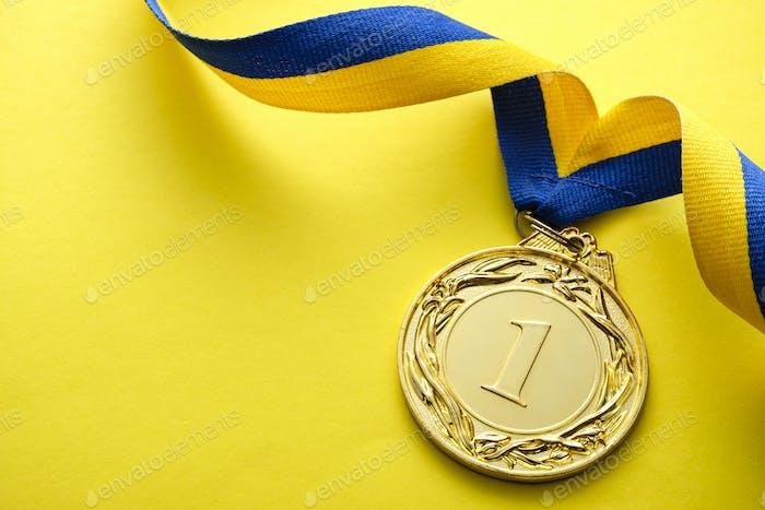 Goldmedaillon für den Sieger oder Champion