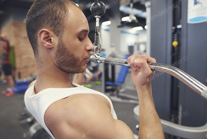 Starke Sportler Training Bizeps Teile