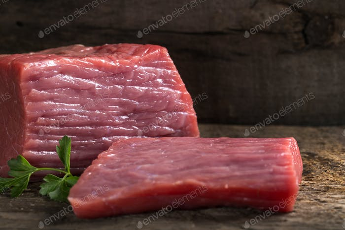 raw beef fillet