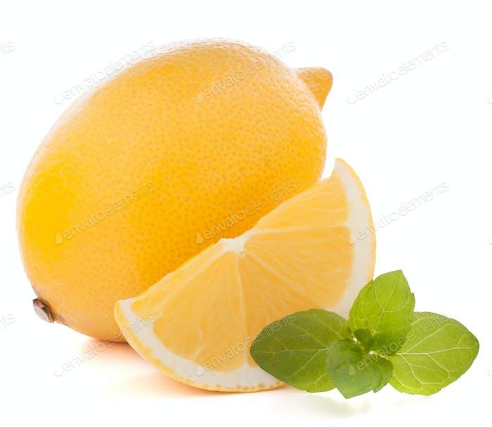 Lemon or citron citrus fruit