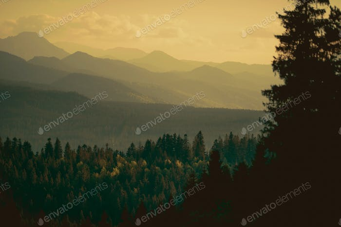 Carpathian Mountains Sunset