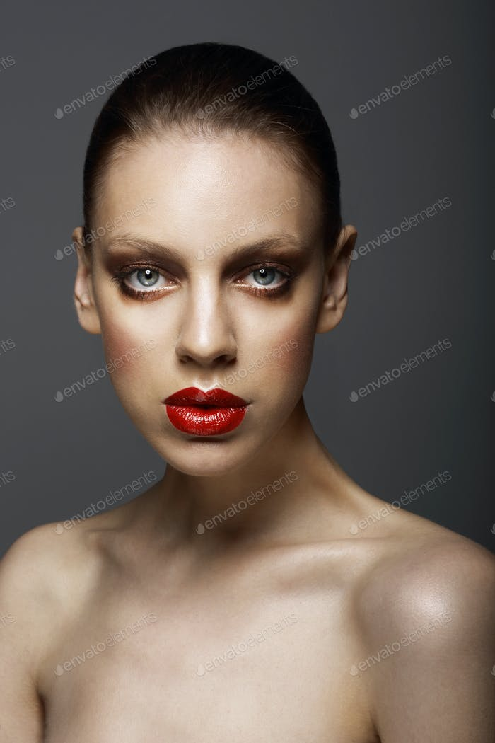Charisma. Individuality. Portrait of Refined Woman