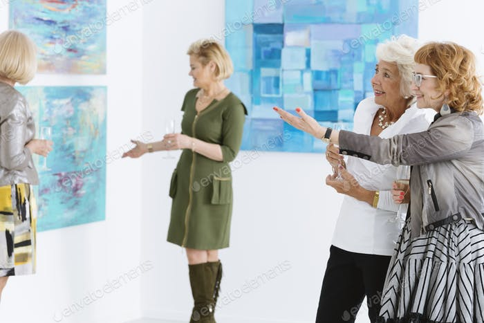 Admiring the painting