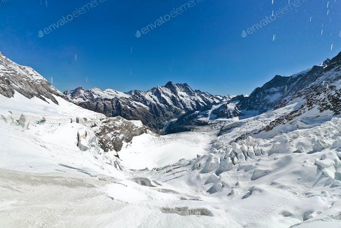 Gletscher auf der Jungfrau