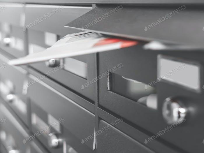 Modern metal mailboxes