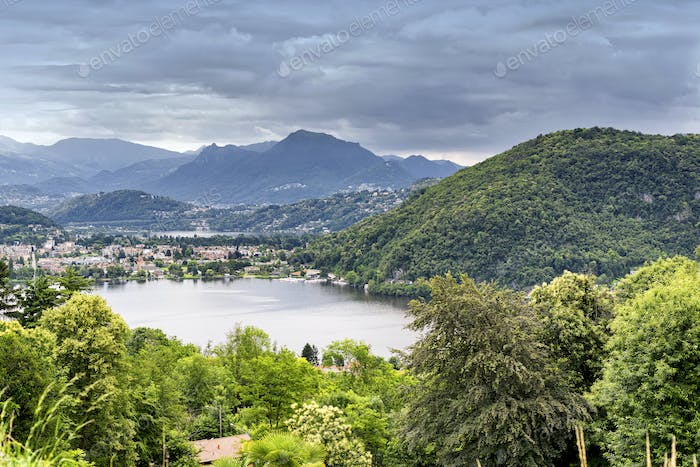 Lake of Lugano at Ponte Tresa