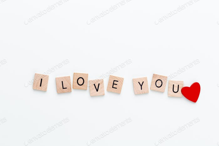 Wooden blocks in a pastel board with the text end heart.