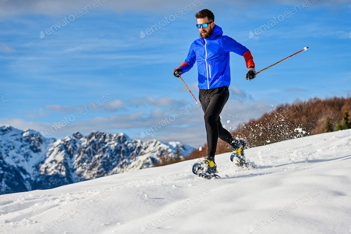 Downhill snowshoes