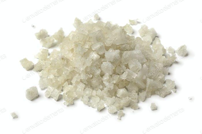 Heap of coarse sea salt