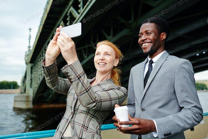 Selfie bei Reise