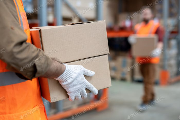 Movers working at warehouse