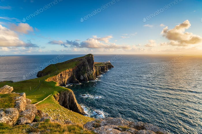 Evening at Neist Point on the Isle of Skye in Scotland