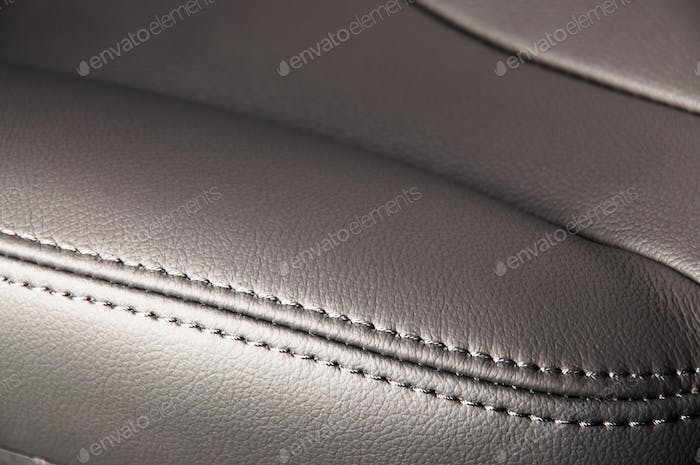 Vehicle car leather interior detail