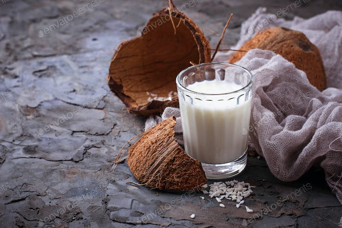 Non-dairy vegan coconut milk