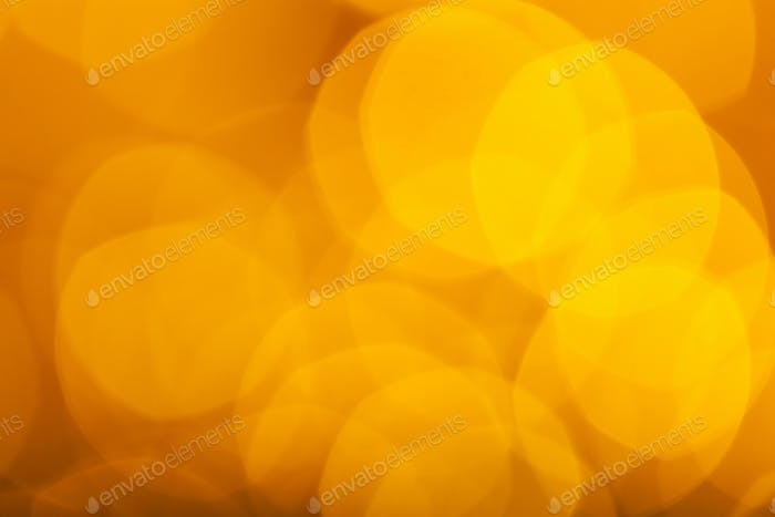 Abstract Orange Bokeh with blurred background.