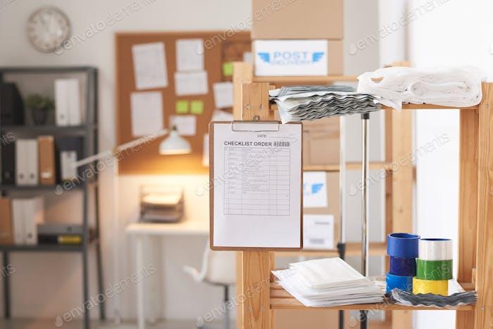 Bestellung der Checkliste im Büro
