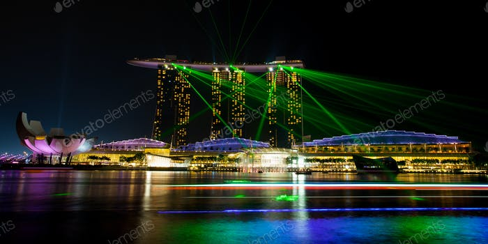 Marina Bay Sands Espectáculo de luz