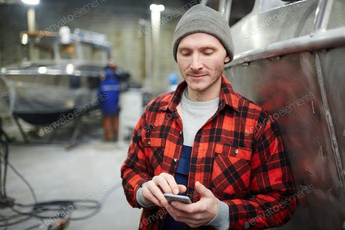 Texting in workshop