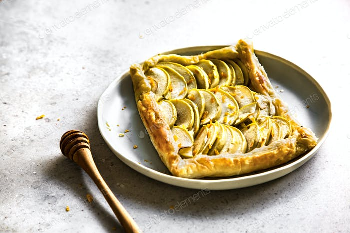 Apple with Orange zest and Honey Puff pastry