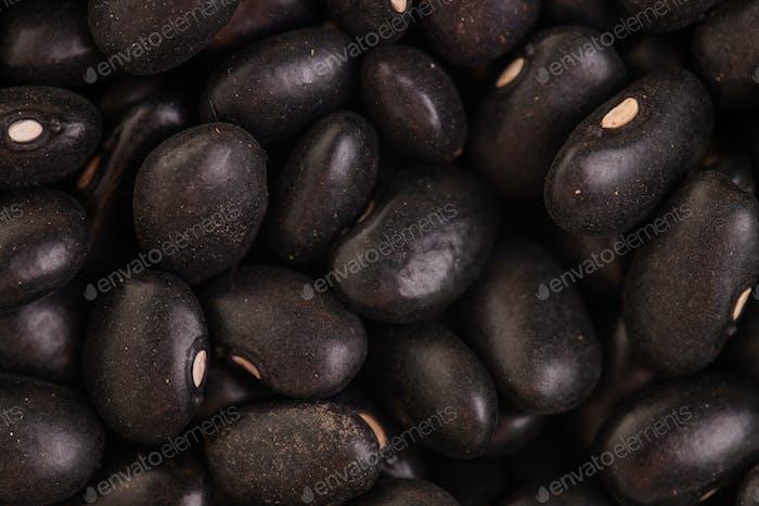 Macro Texture of Black Beans