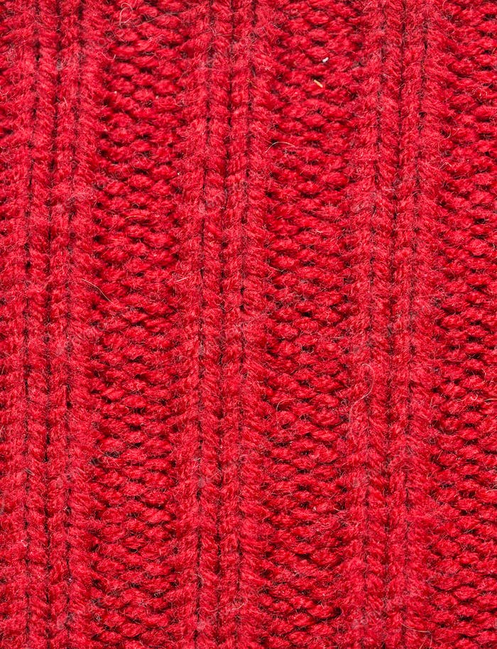 close up of knitted item