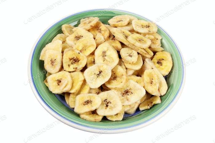 Plate of Banana Chips