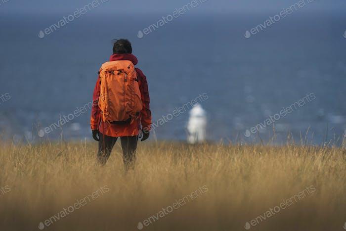 Traveler at Vaternish Lighthouse