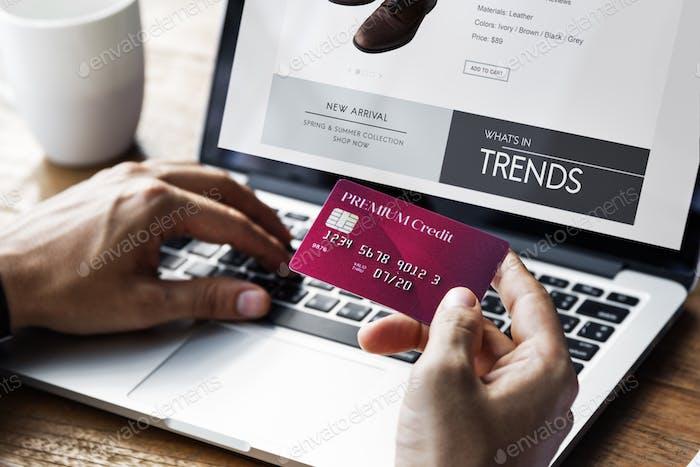 Lifestyle Minimalist Online E-shopping Concept
