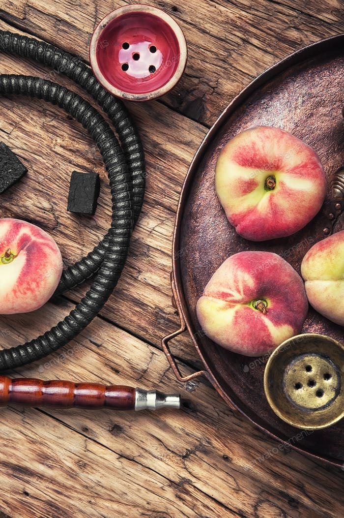 Shisha hookah with peach
