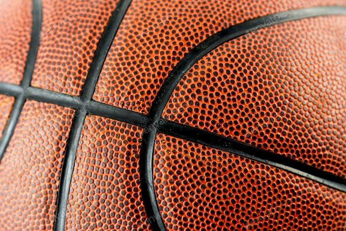 Closeup of basketball