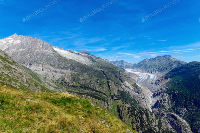 Berge mit Gletscher