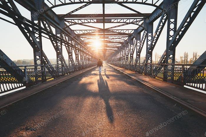 Morning walk across the river